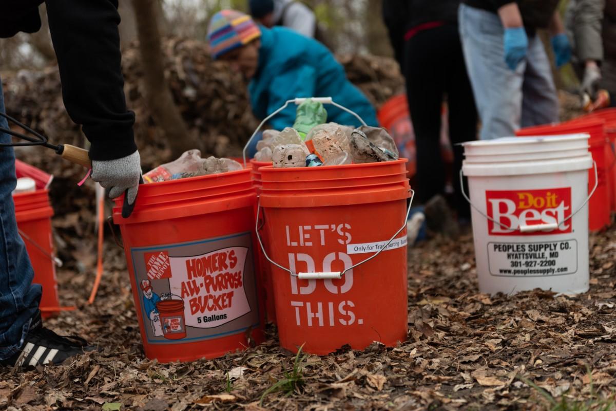 Trash Sorting Challenge at Nash Run Trash Trap