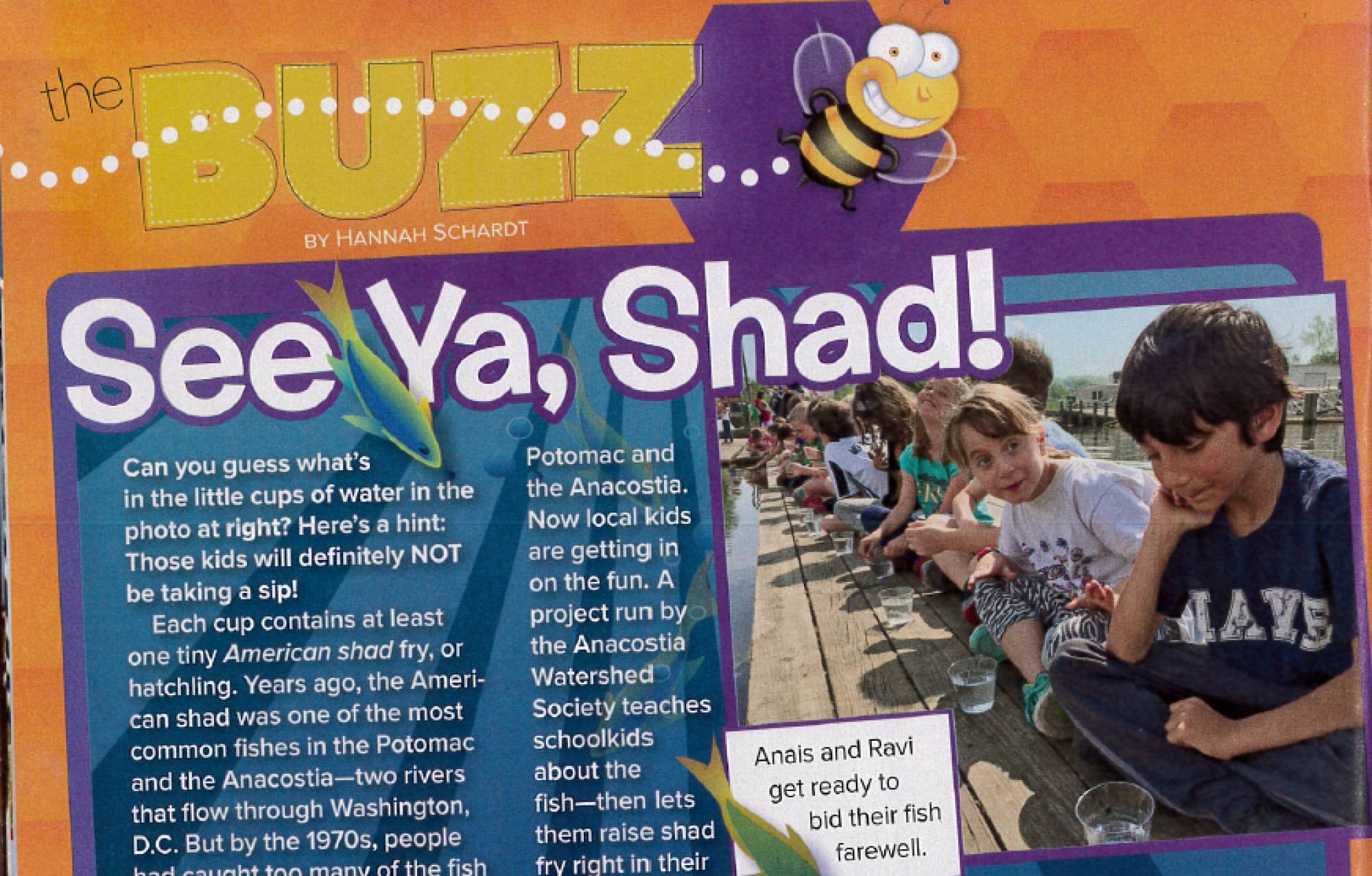 Our Shad Program is featured in April's Ranger Rick Magazine!
